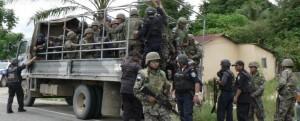 Militarización en el Bajo Aguán, Honduras. Fotografía de Giorgio Trucchi.