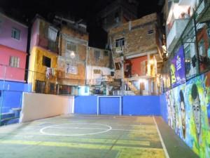 Campo de fútbol en la favela Vidigal