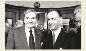 Martinez de Hoz and David Rockefeller ( Martinez de Hoz official site)