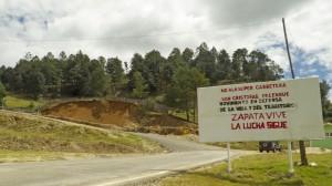 Cartel en los Altos de Chiapas