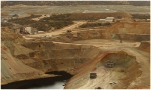Mina María, copper mine in Cananea operated by Grupo Frisco, a Carlos Slim-owned corporation. /Minería Frisco.