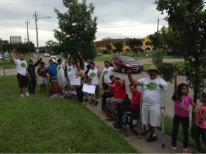 Members of AMIREDIS with Living Hope Wheelchair Association, Houston, Texas.