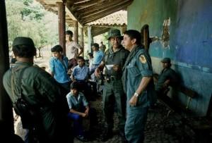 Colonel Perez Ochoa and Col. Domingo Monterrosa. Monterrosa ordered the slaughter of El Mozote. Photo courtesy of Giovanni Palazzo, Italian photographer who covered the armed conflict in El Salvador.