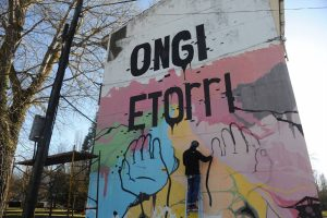 Jovenes por la recuperacion de errekaleor. Lectura de manifiesto Vitoria 17-1-2015 igor aizpuru