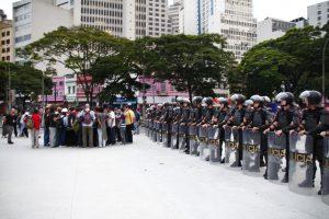 Manifestacion contra el aumento del pasaje