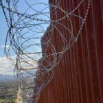 U.S. - Mexico border fence, Arizona - Sonora border